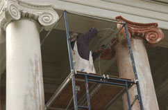 Wood column repair, Spokane